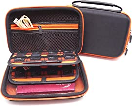 Litcase Carrying Case for New Nintendo 2DS XL and New 3DS XL, 16 Game Card Holders, with Carry Handle - Orange