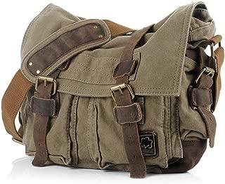 Messenger Bag, Bienna Vintage Military Canvas Shoulder Bags Crossbody Sling Bag Men Women