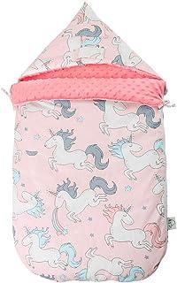 Bebé Saco de Dormir 2.5 Tog, 105 * 52cm Ajustable Invierno Saquito de Dormir con Capucha Desmontable Hombreras Niños Anti-...