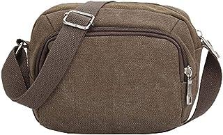 Fanala1 Men Casual Canvas Solid Small One Shoulder Bag M Travel Garment Bags