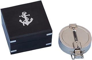 "Hampton Nautical CO-0580-CH Chrome Clinometer Compass with Black Rosewood Box 4"" – Clinometer - Nautical Home Decor"