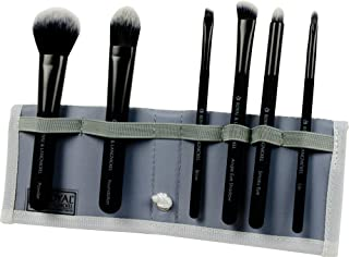 Royal Brush Moda Total Face Cosmetic Brush Set and Case, Black