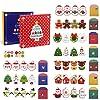 LIHAO クリスマスカード メッセージカード ギフトカード ミニカード おしゃれ カラフル 10枚入 封筒付き 雪だるま サンタクロース クリスマスツリー飾り