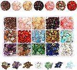 SUSHOU Piedra de Piedras Preciosas Accesorios Conjuntos de fichas Irregulares trituradas Conjunto de Cuentas de Piedra Natural Curación DIY Suelto Beads para joyería Que Hace Collar Pulsera