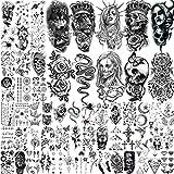 62 Blätter Wolf Löwe Temporäre Tattoos Arm 3D