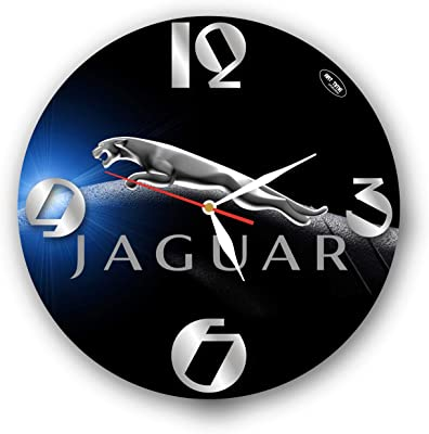 Amazon Com Art Time Production Jaguar 11 Handmade Wall Clock Get Unique Decor For Home Or Office Best Gift Ideas For Kids Friends Parents And Your Soul Mates Home Kitchen