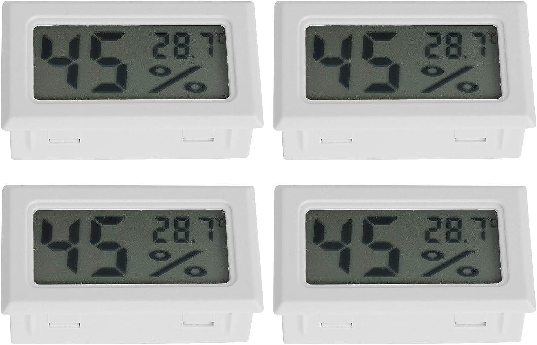 Compteur de temp/érature dhumidit/é Mini testeur de temp/érature dhumidit/é int/égr/é pour Les /& Qioniky Hygro-thermom/ètre num/érique 4 pi/èces thermom/ètre num/érique hygrom/ètre