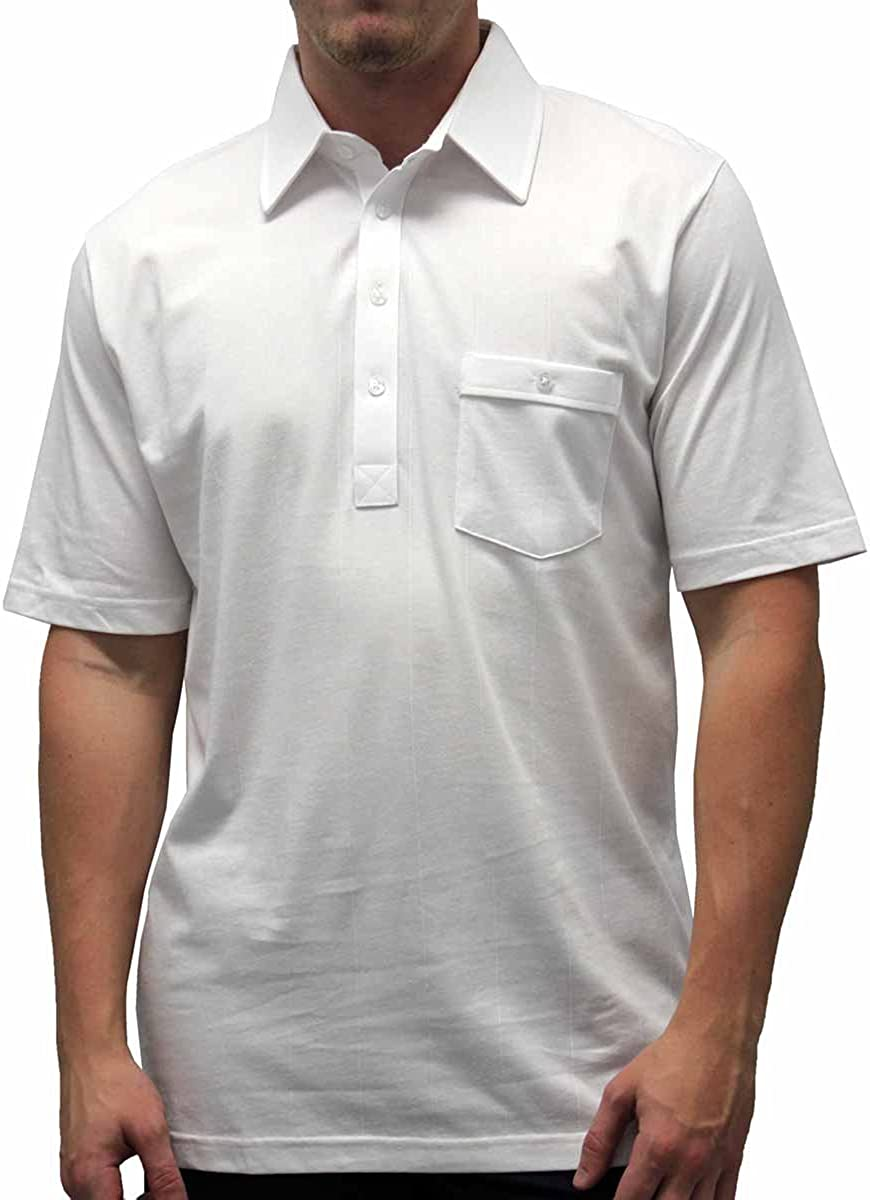 Palmland Solid Textured Short Sleeve Knit Big and Tall - White