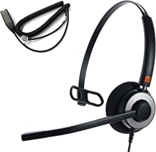 IPD IPH-160 Monaural Noise canceling,Corded Headset with HIS-02 Cable for Avaya IP 16XX and 96xx IP Phones