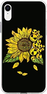 "Jack Skellington Sunflower You are My Sunshine Compatible with iPhone XR 6.1"" Crystal Clear Smartphone Back Case Cover"