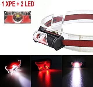 Malloom Mini linterna super brillante XPE + 2 LED 4 lámparas de antorcha cabeza de faro