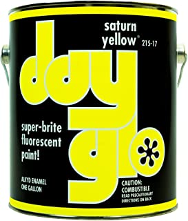 DayGlo Fluorescent Solvent-Based 215 Series Brushing Enamel Paint (Gallon, Saturn Yellow, 215-17)