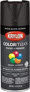 Krylon K05585007 COLORmaxx Spray Paint, Aerosol, Oil Rubbed Bronze