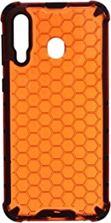 Beehive Hard Back Cover With Silicone Edges For Samsung Galaxy M30 - Orange Black