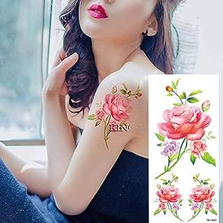 7pcs Pieza desfile de la vendimia rosa tatuada Patternsticker ...
