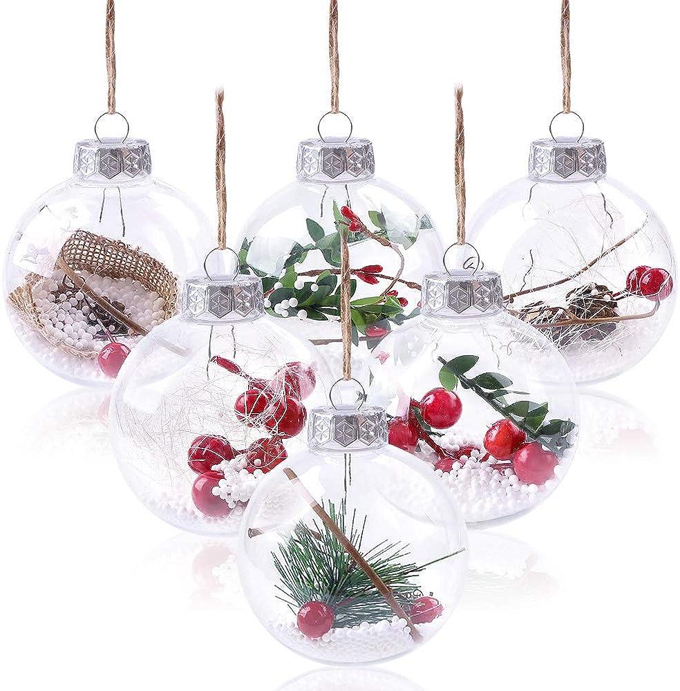 Ornamenti di natale trasparenti infrangibili BOOMAX20003