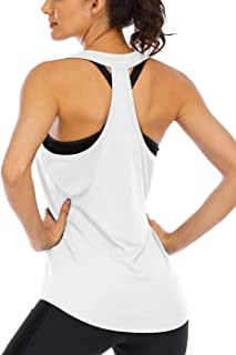 ICTIVE Workout Tank Tops for Women Loose fit Racerback Tank Tops Backless Muscle Tanks Running Tank Tops Open Back Yoga Tops