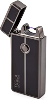 Tesla Coil Lighters USB Rechargeable Windproof Arc Lighter (1. Gun Metal)
