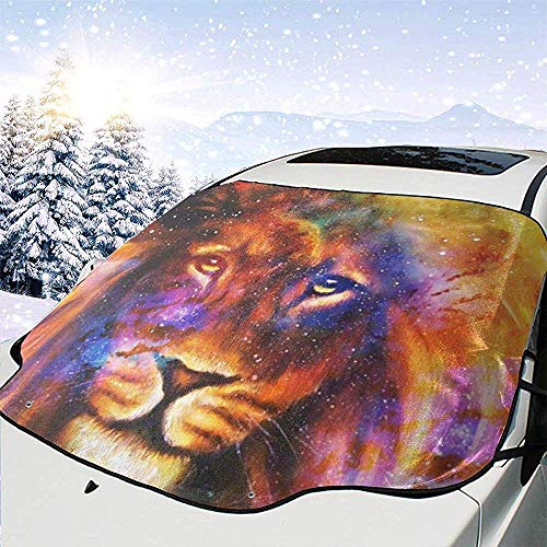 MaMartha Windshield Snow Cover Leone nello spazio cosmico An