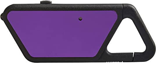 ASP Poly Sapphire, USB Rechargeable Mini LED Flashlight, 20 Lumens, Polymer Frame with Clip, Violet