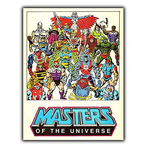 Masters of The Universe Póster de Pared Metal Creativo Placa Decorativa Cartel...