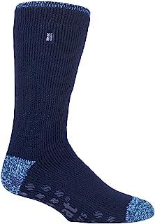 HEAT HOLDERS - Mens 2.3 Tog Fleece Lined Indoor Thermal Slipper Socks with Grips