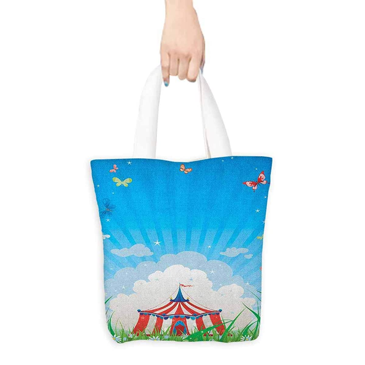 Work package Circus Travelling Circus Tent with Clouds Butterflies and Clear Sky Festival Happiness Coin cash wallet 16.5
