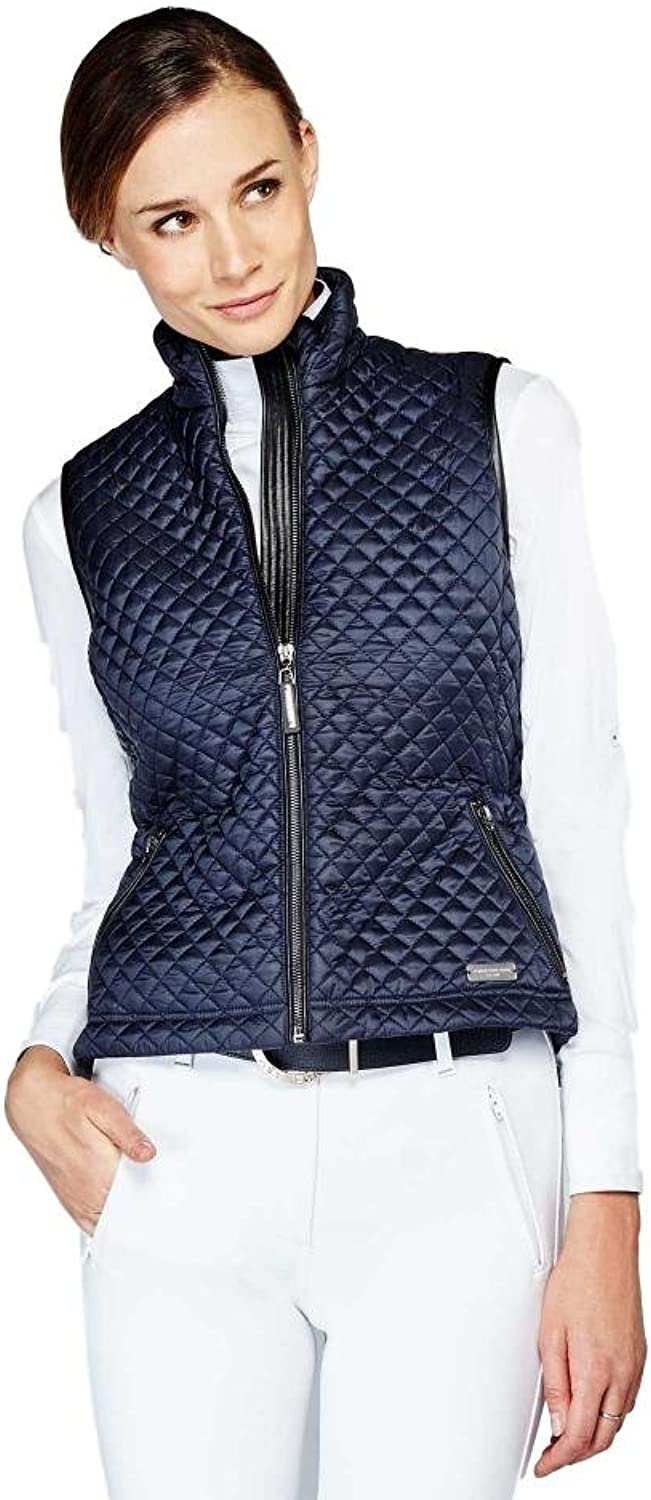 Noel Asmar Equestrian Icon Quilted Vest Sand (M)