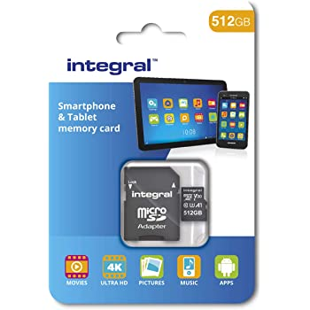 Integral 512GB microSDXC CL10 UHS-I U1 Smartphone and Tablet Memory Card