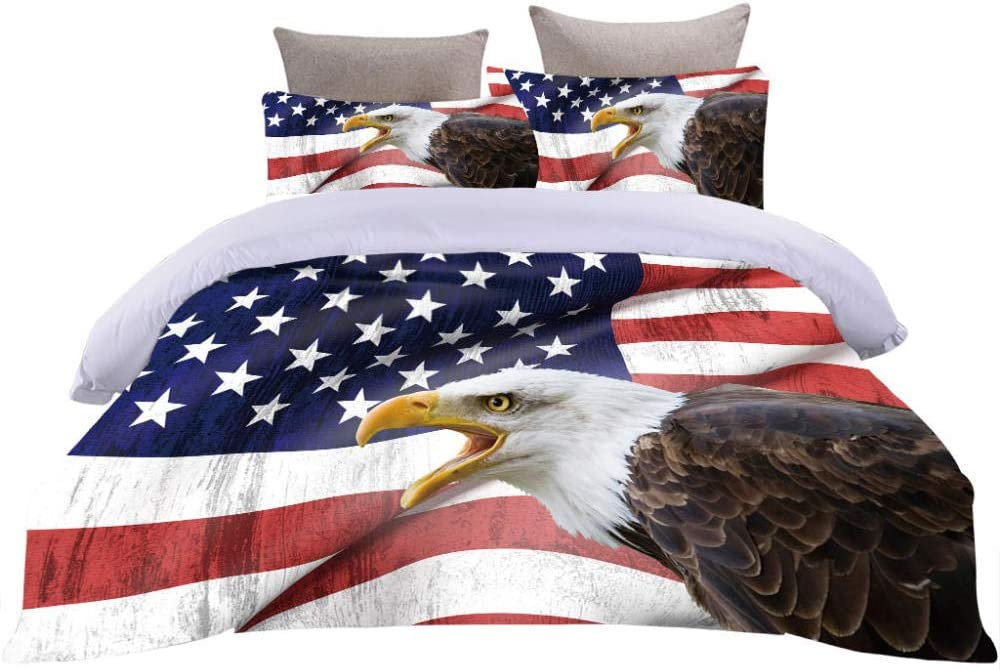 HKDGHTHJ Bedding Washed Microfiber 4 Limited Clearance SALE! Limited time! Special Price Bed Set Animal Printed Flag