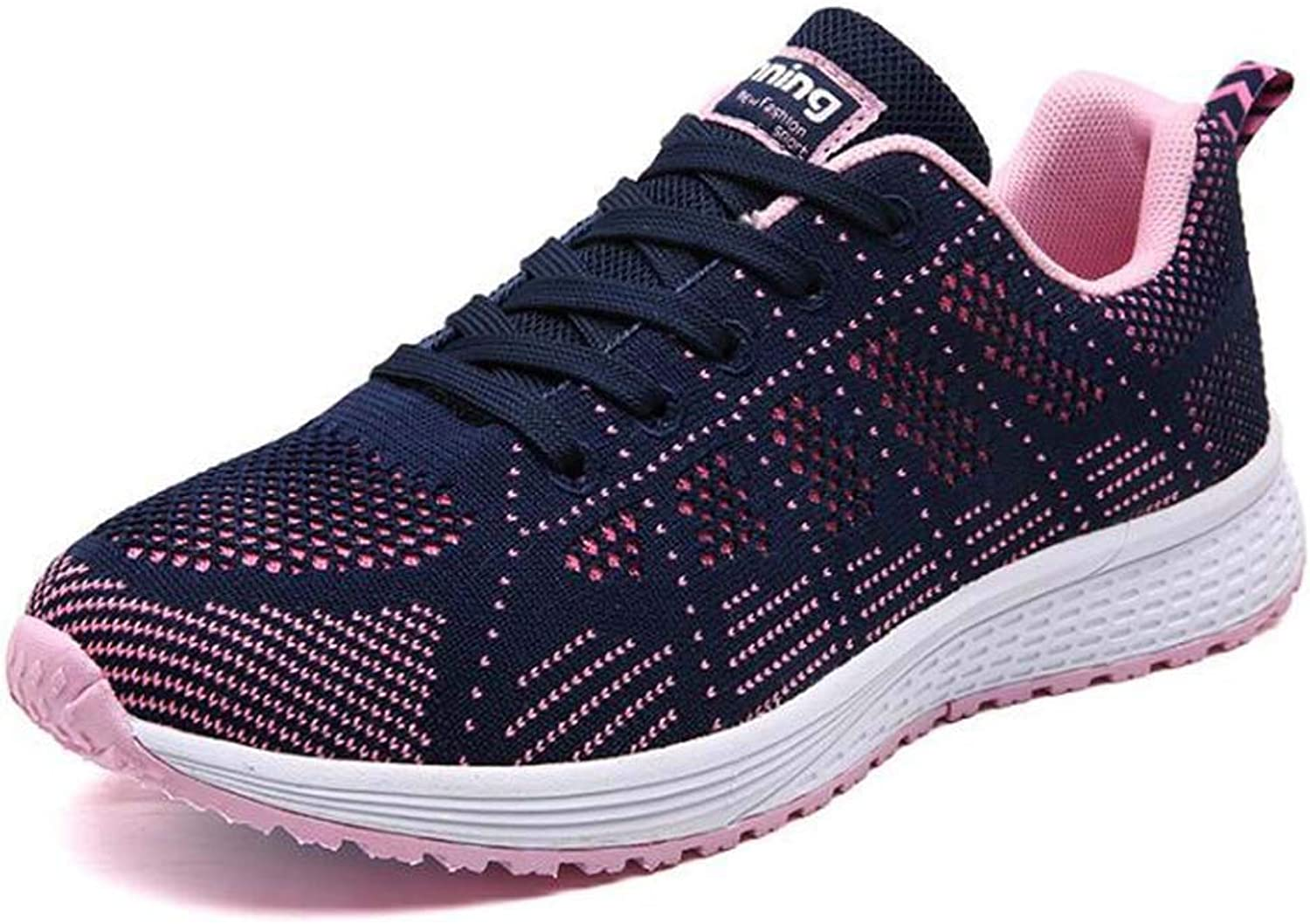GAOPF Women Outdoor Casual Sports Running shoes Lightweight Fashion Breathable Athletic Mesh Sneakers bluee