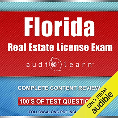 Florida Real Estate License Exam AudioLearn audiobook cover art