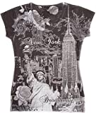 Sweet Gisele Womens New York Souvenir Black & White Tshirt (XL)