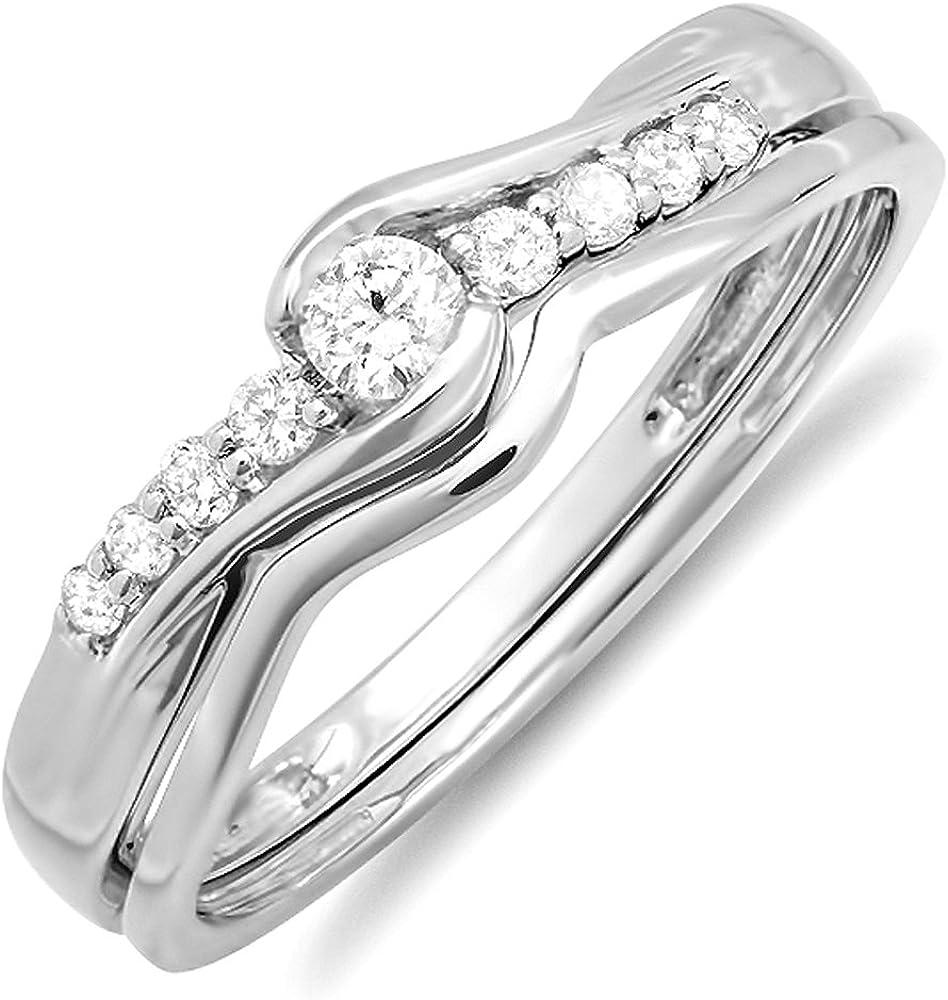 Dazzlingrock Collection 0.25 Carat ctw Max 47% OFF Round 18k Ladie Sale SALE% OFF Diamond