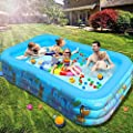 "EPROSMIN Inflatable Swimming Pool - Pools for Kids and Adults 120""x72""x23"" Suitable for Backyard/Garden/Patio Summer Water Play Party Outdoor 10ft"