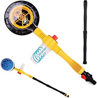 Funlove Car Wash Brush Kit with Long Handle Automatic Non-Electric 360 Degree Car Rotating Brush for Garden Sprinkling Car Washing or Home Cleaning