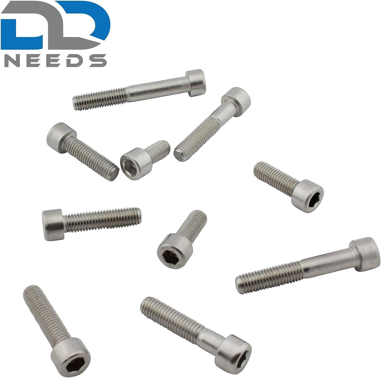 Zylinderschrauben mit Innensechskant Zylinderkopfschrauben D2D DIN 912 VPE: 10 St/ück M2,5 x 6 Edelstahl A2 V2A