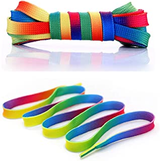 4 Pairs 46/54 Inch Premium Shoelaces- Oval or Flat Colorful Fashion Sneakers Shoelaces for Kids and Adults