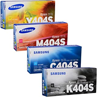 Samsung CLT-K404S, CLT-C404S, CLT-M404S, CLT-Y404S Toner Cartridge Standard Yield Set Black, Cyan, Magental Yellow - 1 Each in Retail Packing