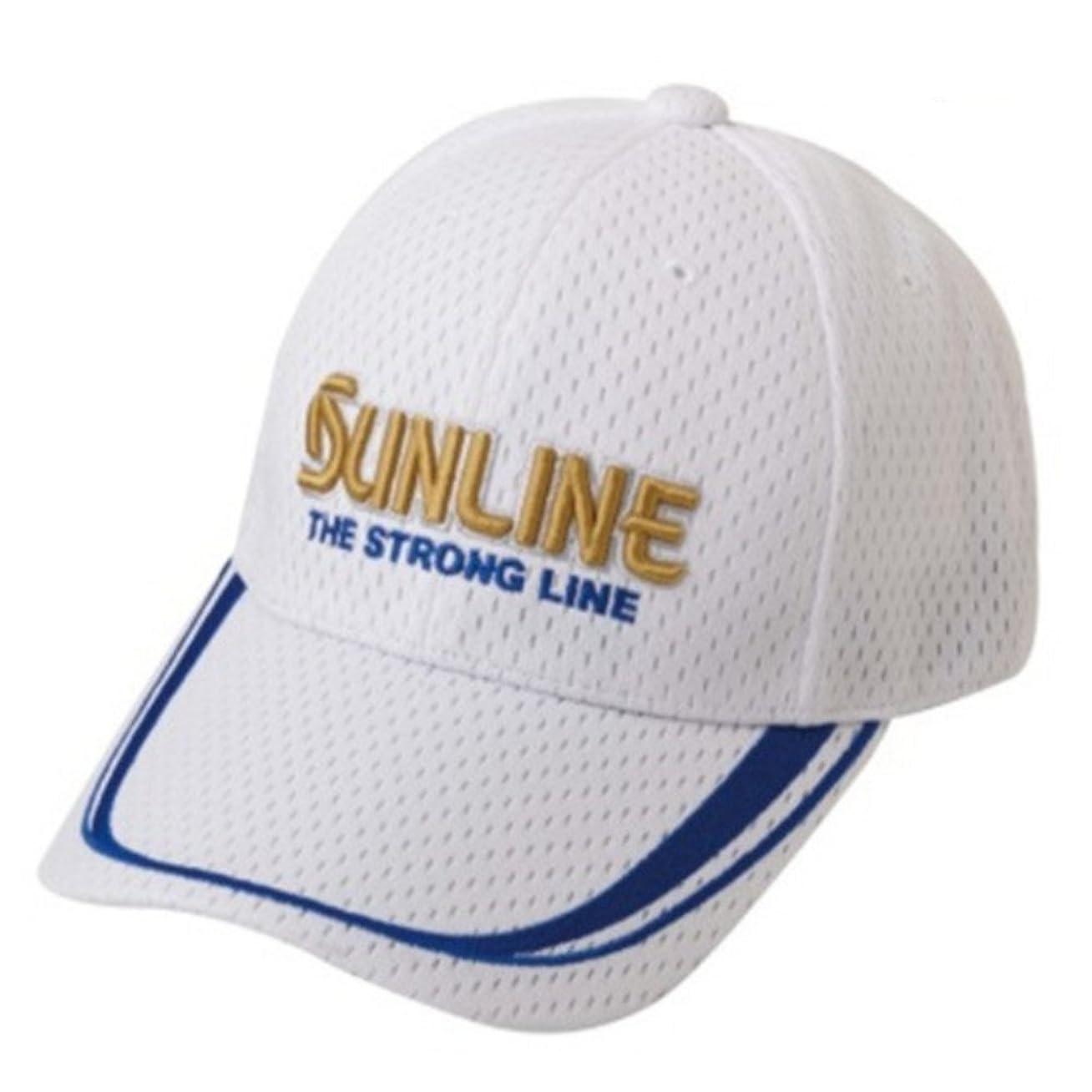 棚祖先スリットサンライン(SUNLINE) キャップ フィッシング II ホワイト CP-3222