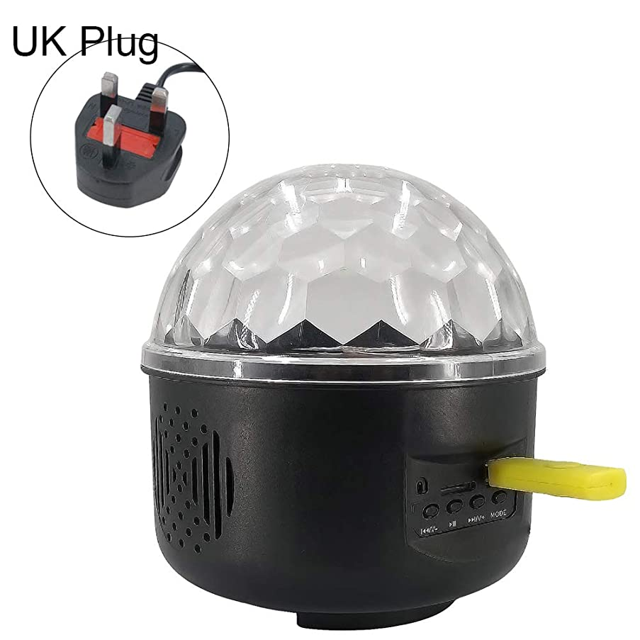 Shentesel Voice Remote Control Magic Ball LED Night Light Stage Projection LampUK Plug