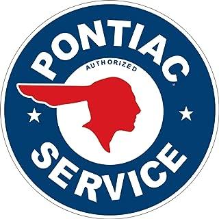 Desperate Enterprises Pontiac Service Round Tin Sign, 11.75
