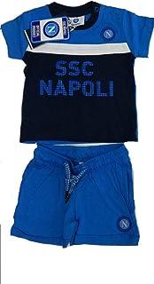 SSC NAPOLI P19i1n90624 Conjunto de niño: camiseta con pantalón. Unisex, bebés 0-24