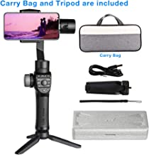 Freevision Vilta-M Pro 3-Axis Handheld Stabilizer Gimbal for iPhone, Samsung, Premium Stability Performance, Double Wheel, Mark A/B Focus Point Setting, Wireless Charging,Provide Tripod and Carry Bag