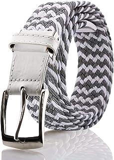 FUKUYIN ベルト メンズ 編み込み メッシュ ビジネス&カジュアル 紳士 伸縮 サイズ調整フリー ゴム 男女兼用 ファッション ギフト