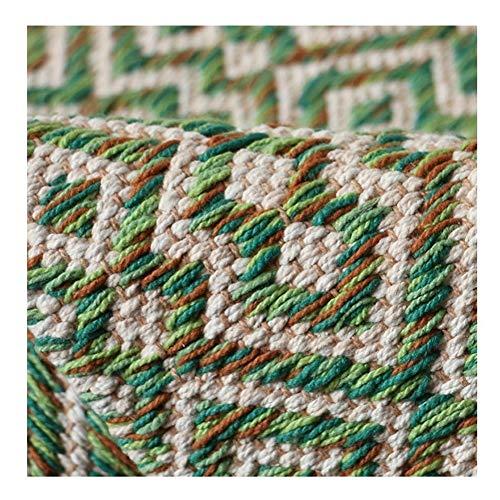 Retro Marokkanische Hand Gesponnene Baumwolle Nacht Bereich Teppich, Maschinenwaschbar Geometric Thin Werfen Flickenteppich-Läufer for Wohnzimmer Schlafzimmer 80x160cm mit Anti-Rutsch-Teppich-Pad