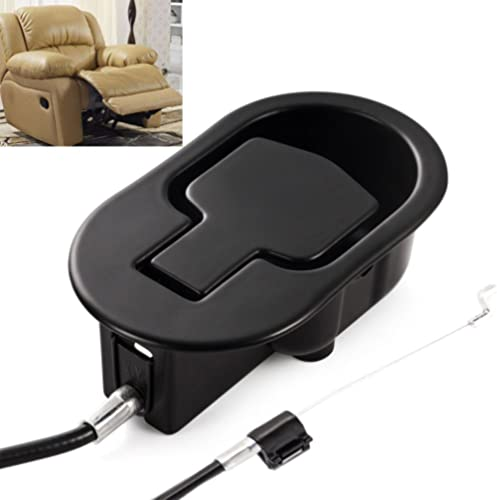 FOLAI Recliner Replacement Parts - Universal Black Metal Pull Recliner Handle with Cable - fits Ashley and Major Recl...