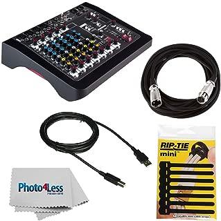 Allen & Heath ZEDi-10FX Hybrid Compact Mixer/4x4 USB Interface with FX + Cable + RipTie