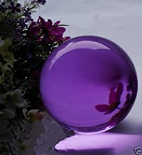 40mm Asian Rare Natural Quartz Magic Crystal Healing Ball Sphere Collectibles Home DIY Decor Purple