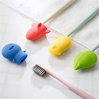whatUneed Astuccio per spazzolino da Viaggio, Custodia Protettiva per spazzolino Antibatterico in Silicone (Set di 4)